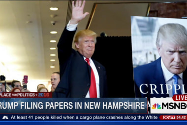 Trump files papers in New Hampshire