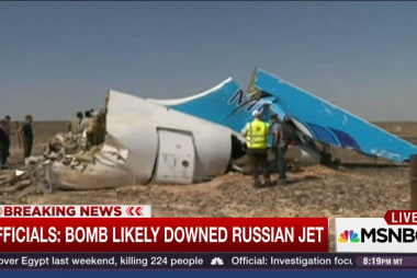 Did a bomb down the Russian jet?