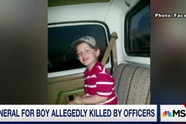 Funeral for boy allegedly killed by officers