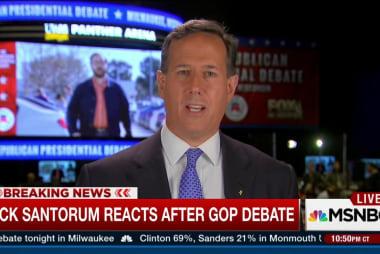 Santorum cites challenge of Democratic unity