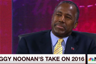 Noonan to Mika: I think Dr. Carson...