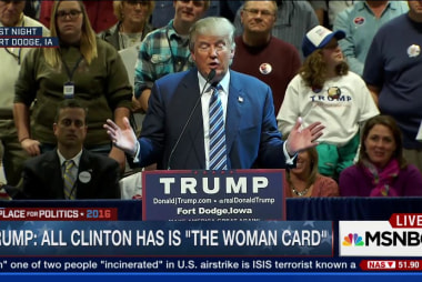 Trump: All Clinton has is 'the woman card'