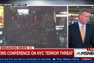 NYC Mayor de Blasio: We won't be intimidated