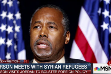 Ben Carson meets with Syrian refugees