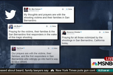 Debate over 'thoughts and prayers' sentiment