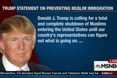 Trump to Muslims: You're not welcome here