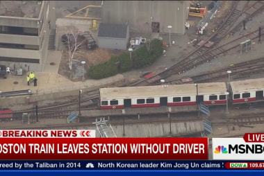 Boston train leaves station without operator
