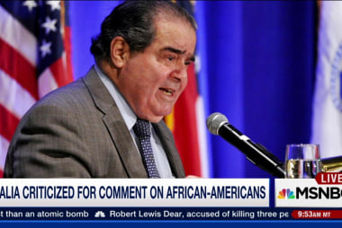 Justice Scalia's comments draw fire
