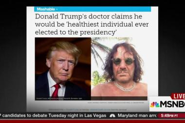 Trump's doctor note
