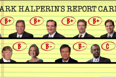 Mark Halperin scores the debate