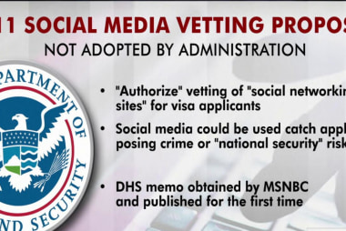 MSNBC obtains Homeland Security memo