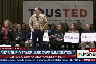 Cruz, Rubio trade jabs over immigration