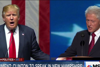 Trump on Bill Clinton: 'Certainly a lot of...