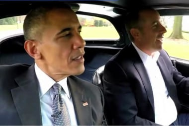 Obama stars in opener of Seinfeld series