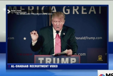 Trump included in terrorist recruitment video