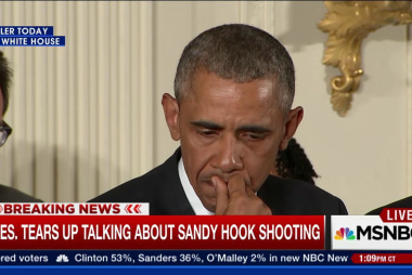 Pres. tears up talking about Sandy Hook...