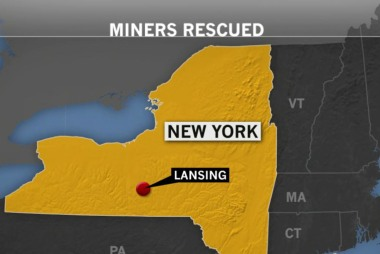 Miners rescued from underground elevator