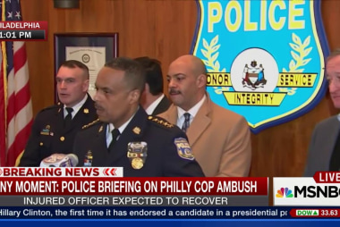 Philly police discuss ambush of officer