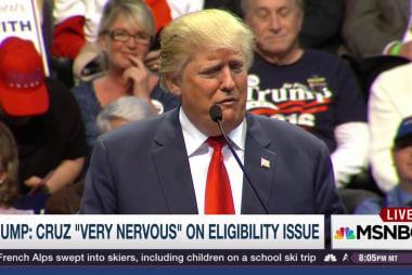 Trump: Cruz 'nervous' about 2016 eligibility
