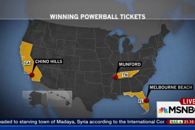 Three winning tickets in $1.5 Billion...