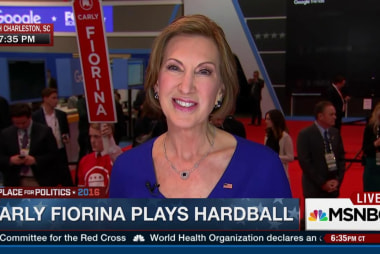 Fiorina: Clinton is the other person in...