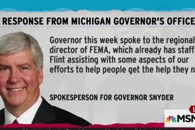 Snyder in touch with White House on Flint