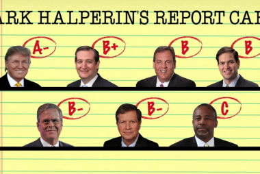 Mark Halperin scores the GOP debate