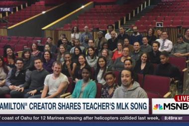 'Hamilton' creator shares teacher's MLK song