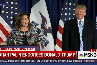 Palin endorses Trump for president