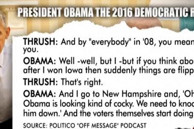 Obama encouraging toward Clinton in interview
