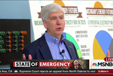 Snyder deflects blame for Flint water crisis