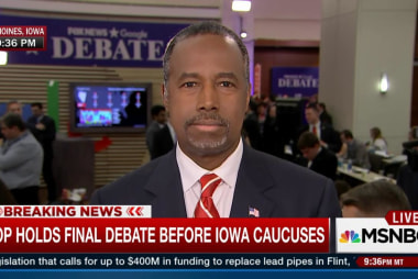 Ben Carson reacts to main stage debate