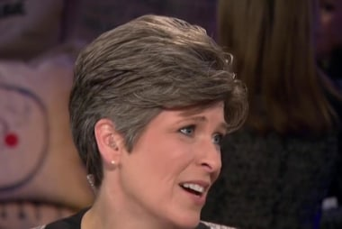 Joni Ernst: People are upset out there