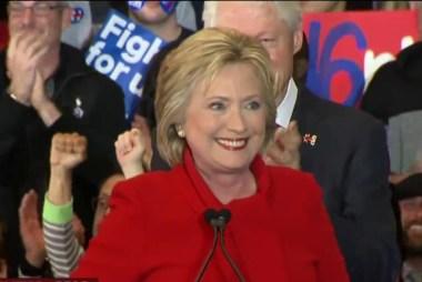 Hillary Clinton apparent Iowa winner