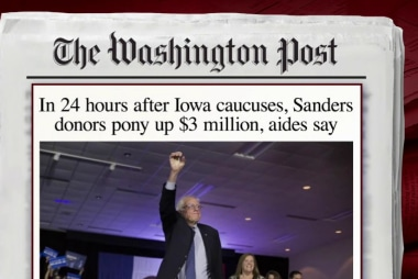 Sanders raises huge amount after Iowa