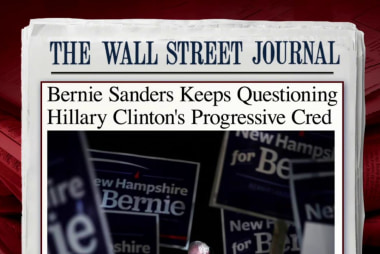 Sanders questions Clinton's progressive label