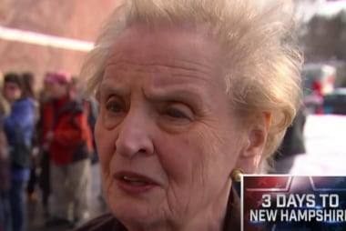 Albright reacts to Sander's foreign policy...