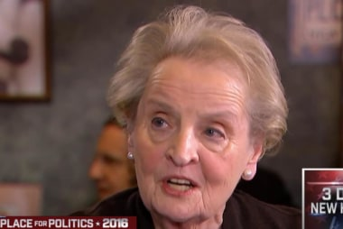 Albright campaigns for Clinton in NH