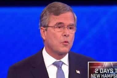 Bush spars with Trump in debate