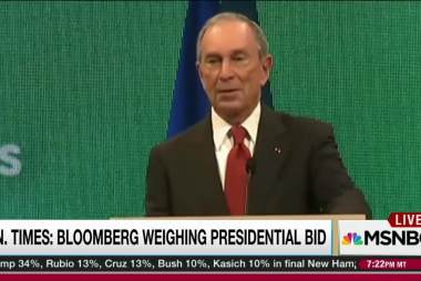 Bloomberg confirms consideration of 2016 run