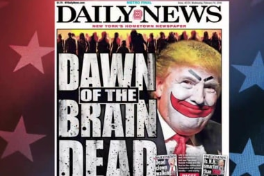 'Mindless zombies' back Trump, says NY paper
