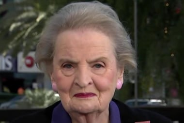 Secy. Albright: I didn't mean to insult women