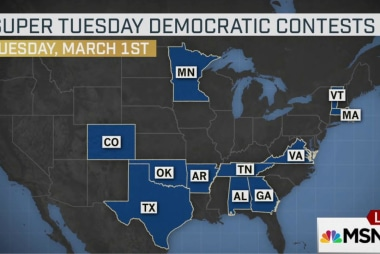 Super Tuesday looms large for Democrats