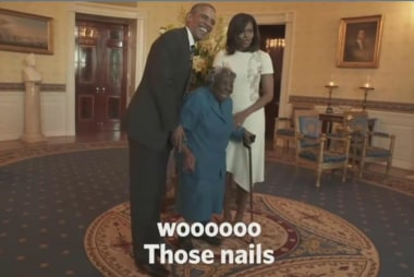 Dancing 106-year-old visits White House