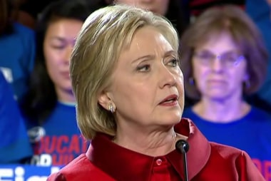 Is Clinton trying to 'learn the Bern?'