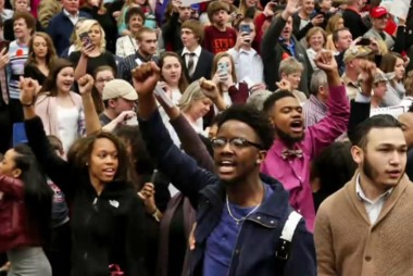 Black students escorted out of Trump rally