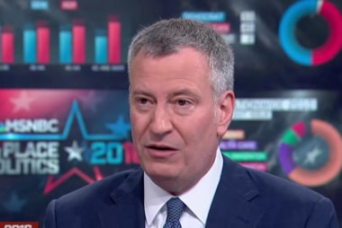 'What has Trump done for people?': de Blasio