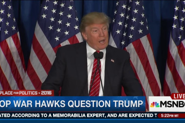 GOP war hawks question Trump