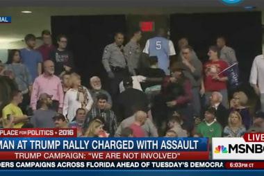 Trump rally becomes violent