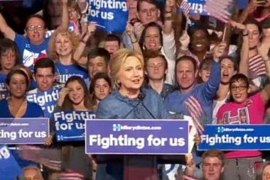 Clinton sweeps five Democratic primaries